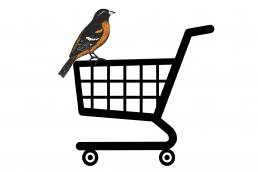 Bird-in-cart