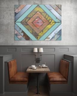 Textured Geometric Wall Art Mockup