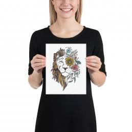 Textured Lion Design Print-UF-MU