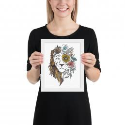 Textured Lion Design Print-MU