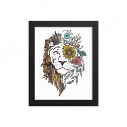 Textured Lion Design Print-BF